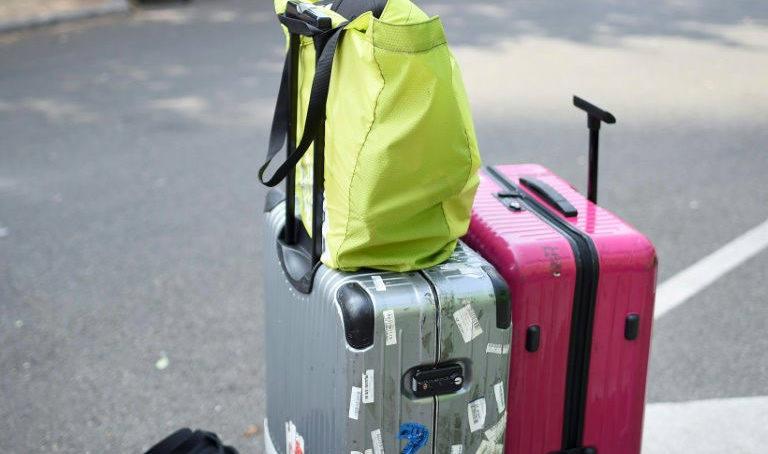Thief in a suitcase robs bus luggage in Paris
