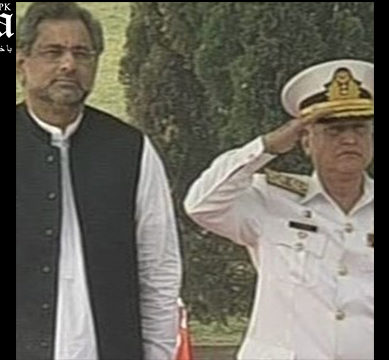 PM Abbasi visits Naval Headquarters
