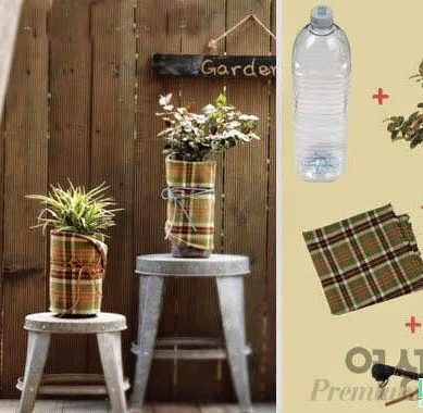 10 DIY ideas to recycle plastic bottles