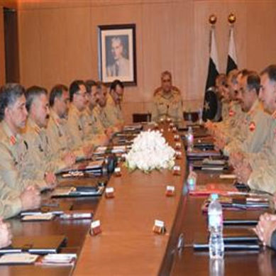 Top military brass review geo-strategic security environment in Corps Commanders Conference
