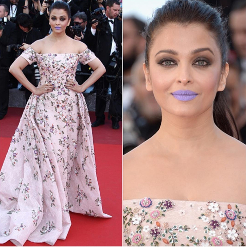 The infamous 'Purple Lips'. Cannes