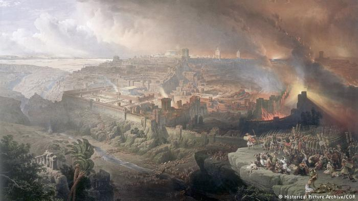 Roman empire Jerusalem fell under the rule of the Roman Empire. But in the population the resistance was forming and in 66 AD the Jewish-Roman war broke out. It ended four years later with a Roman victory and the new destruction of the Temple of Jerusalem. Rome and Byzantium dominated nearly 600 years Palestine.