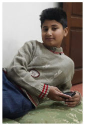 Gul Sher Age: 13 Class: 8 Son of Shehnaz and Muhammad Nasir Gul Siblings: Emaan (12), Warda Nasir (10), Khushbakht Nasir (7) and Waresha Nasir (4)
