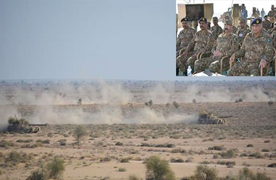 Army chief observes winter exercise of mechanised formation in Bahawalpur