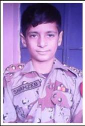Shahzeb Age: 12 Class: 8 Son of Nazir Ahmed and Shahnaz *Siblings: Laaraib (9), Shawaiz (6) and Shaheer (1)