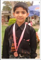 Ahmed Ali Shah Age: 13 Class: 8 Son of Khalid Mehmood (late) and Jameela Kosar Siblings: Mohammad Ahmed (12)