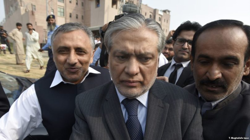 Ex-parte proceedings against Ishaq Dar hang in the balance
