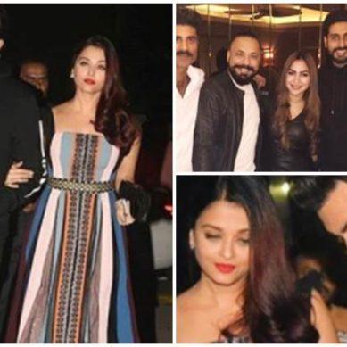 Aishwarya Rai parties with her real and reel life love – Abhishek Bachchan and Ranbir Kapoor, see photos