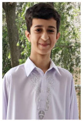 Baqir Ali Age: 14 Class: 8 Son of Rashid Ali Bangash and Shehla Rashid Siblings: Alia Rashid (22), Humaira Rashid (22), Babar Ali Khan (19) and Uzma Rashid (17)