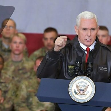 In surprise visit to Kabul, Pence warns Pakistan against offering safe havens to terrorists