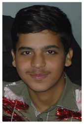 Mohammad Ali Rehman Age: 15 Class: 9 Son of Mohammad Hussain and Dilshad Bibi Siblings: Mohammad Abdullah (12) and Mohammad Abubakkar (5)
