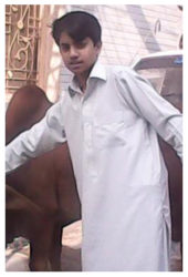 Uzair Ahmad Age: 14 Class: 9 Son of Zahoor Ahmed and Farahnaz Siblings: Tahira (13) and Fatma (2)