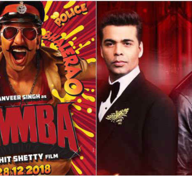 Simmba teaser poster: Ranveer Singh, Rohit Shetty and Karan Johar collaborate for a hardcore action-drama
