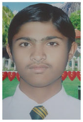 Sohail Aslam Age: 14 Class: 9 Son of Hav. Muhammad Aslam and Sakeem Aslam Siblings: Muhammad Zohaib Aslam (9) and Muhammad Zeeshan Aslam (5)