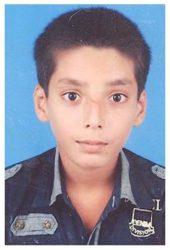 Umair Arshad Age: 14 Class: 8 Son of Arshad Ali and Salma Arshad Siblings: Ayesha Arshad (17), Sumayya Arshad (14), Muhammad Uzair Arshad (9) and Mohammad Zubair Arshad (5)