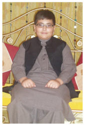 Shahood Alam Age: 14 Class: 8 Son of Mr. and Mrs. Zahoor Sibling: Aresha Alam (13)