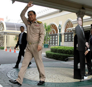 Thai PM's 'cut-out' stunt bemuses public