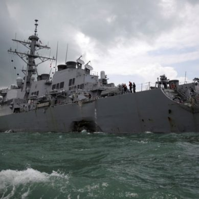 Ex-U.S. Navy officers face negligent homicide charges over ship collisions