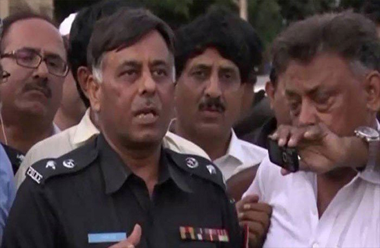Raid at Rao Anwar's residence by police