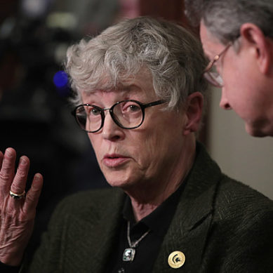 Michigan State President Lou Anna Simon resigns in wake of scandal