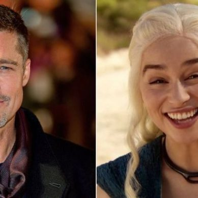 Brad Pitt bid $120,000 to watch Game of Thrones with Emilia Clarke and lost