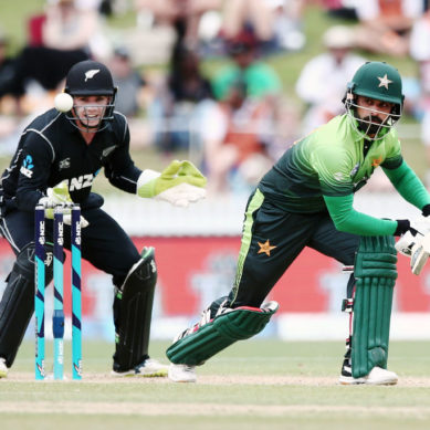 NZ steady in chase after Sarfraz, Hafeez lift Pakistan to 262