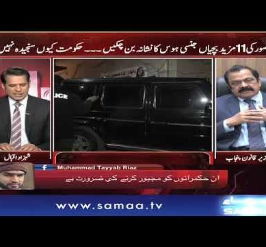 Rana Sanaullah Turns Angry On Host Shahzad Iqbal