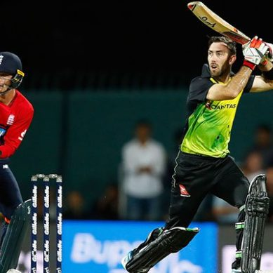 Maxwell century powers Australia to T20 win over England