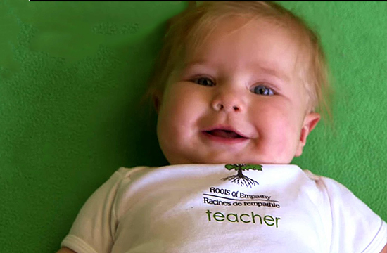 The Baby that helps Prevent Bullying in a School in Canada