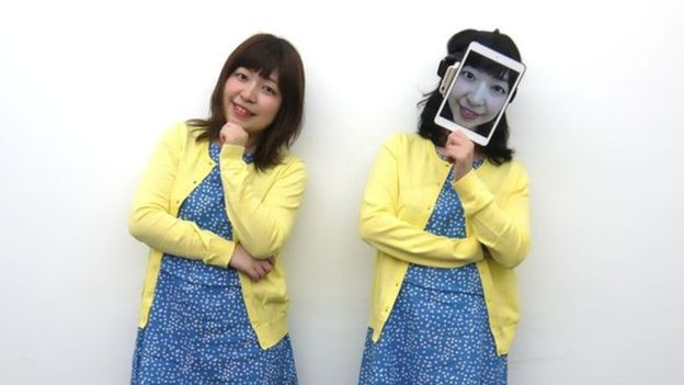 """Human Uber"", the strange technology invented in Japan to replace people with masks with screens"