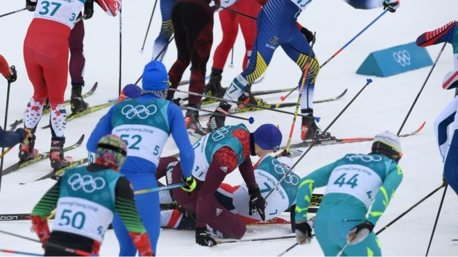 PyeongChang 2018: the spectacular comeback of the Norwegian skier Simen Hegstad Kruger, who won the gold after a spectacular fall that had relegated him to the last place