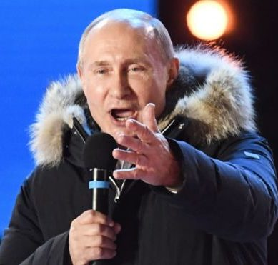 Vladimir Putin gets a comfortable victory in Russia's presidential election, with more than 70% of the vote