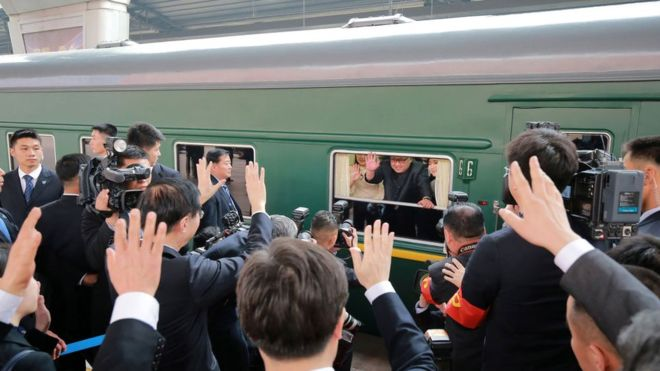 Slow, green and armored: how is the train in which the leader of North Korea, Kim Jong-un, made his historic visit to China