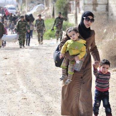 Hundreds of civilians evacuated from the eastern Guta region of Syria