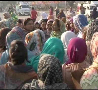 Lady health workers' protest continues on second day
