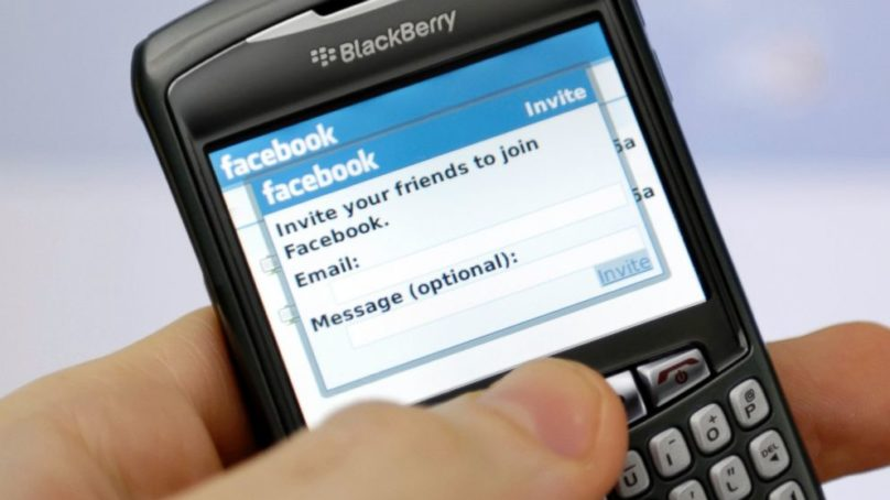 BlackBerry Sues Facebook