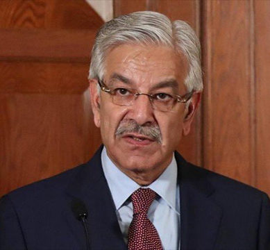 Ink Thrown At Foreign Minister Khawaja Asif While Addressing PML-N Workers Convention