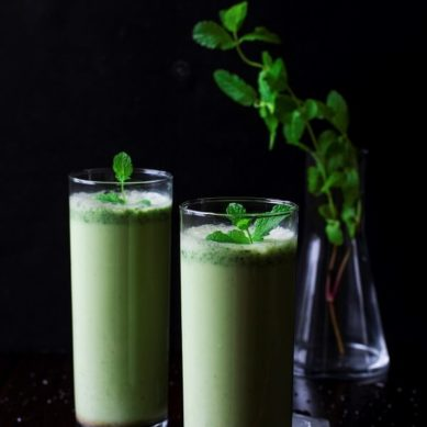 Mint-Cucumber Summer Lassi