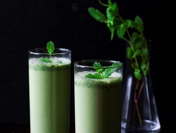 Mint-Cucumber Summer Lassi