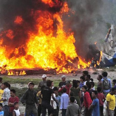 US-Bangla Airline With 67 Passengers on Board Crashed Near Kathmandu Airport