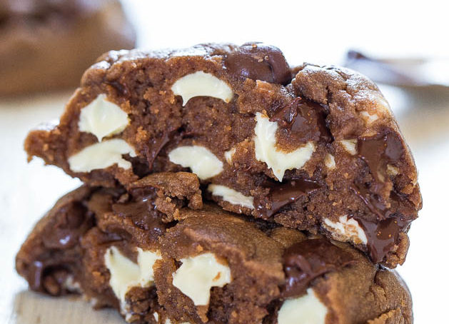 Quick Mix Two Tone Nutella Choco-Chip Cookies
