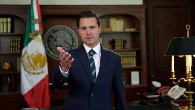 "The president of Mexico, Enrique Peña Nieto, responds to Donald Trump: vent his ""frustration"" in the United States"
