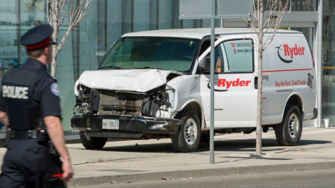 Toronto: At least 10 dead and 15 injured after a van ran over pedestrians on a busy street in the Canadian city
