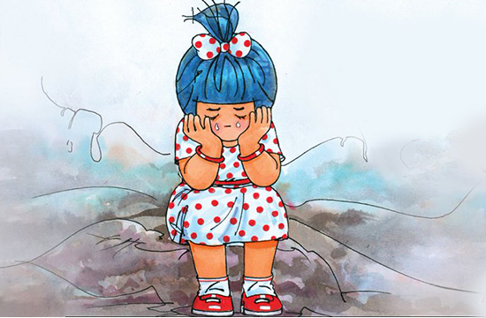 The Iconic Amul Girl cried and we are all feeling her pain