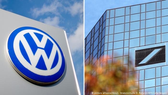 Deutsche Bank and Volkswagen: marked by the crisis