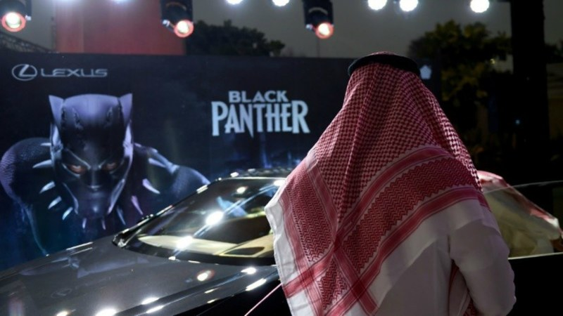 KSA's very first and much anticipated cinema opens up after 35 years screening 'Black Panther'