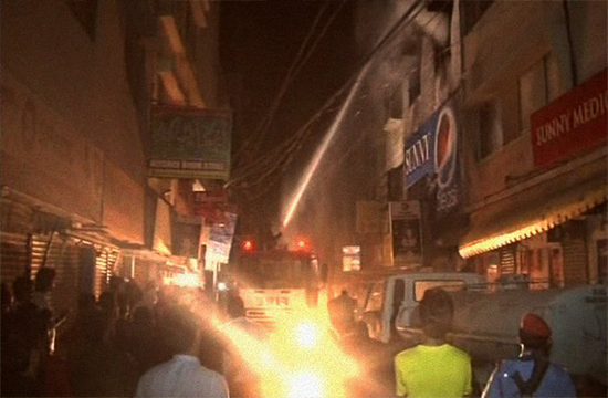 Karachi: Godown set ablaze, cause remains unknown