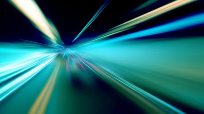 Is there anything that can travel faster than the speed of light?