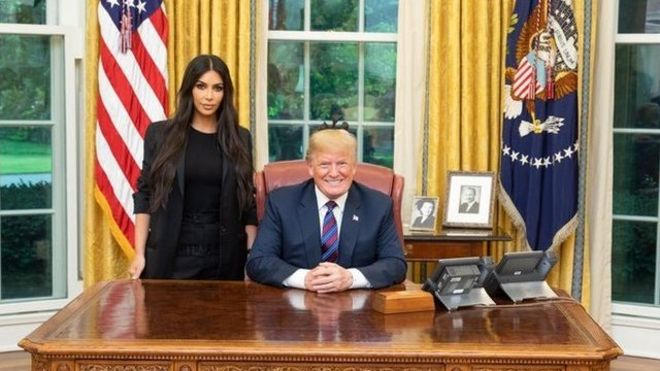 Kim Kardashian meets Donald Trump