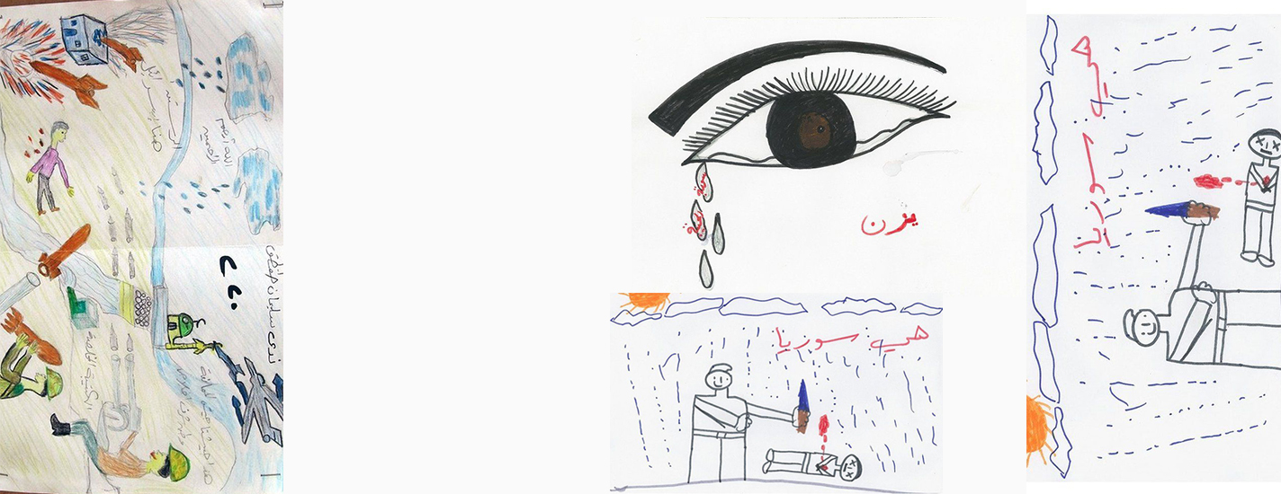 """Maybe if we die we can play"": the moving drawings of children affected by the war in Syria"
